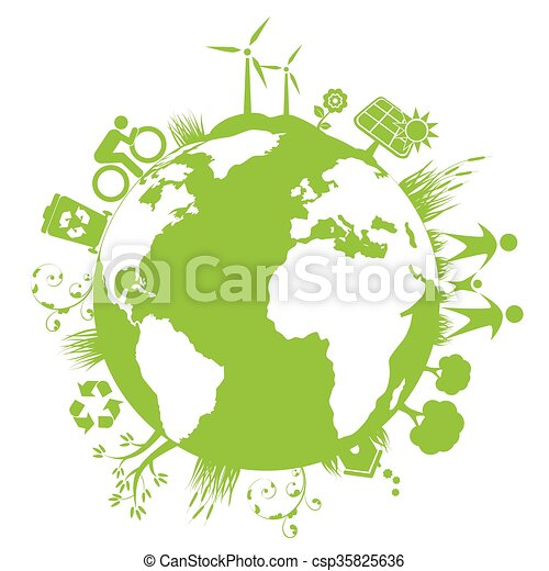 Green planet - csp35825636