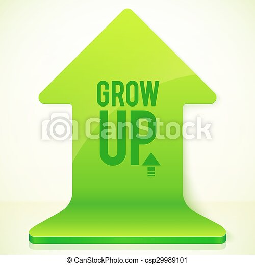 Green plastic vector realistic UP button - csp29989101