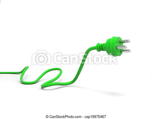 Green plug - csp19975467