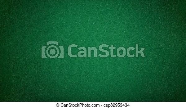 Green Poker table - csp82953434