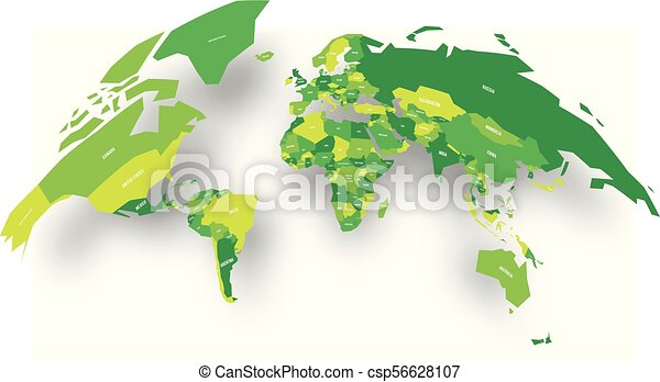 Green political map of world bulging in a shape of globe 3d vector green political map of world bulging in a shape of globe 3d vector illustration map with dropped shadow gumiabroncs Choice Image