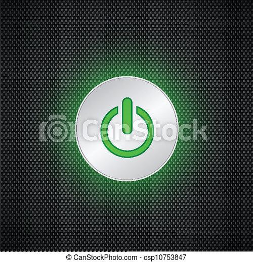 Green power button - csp10753847