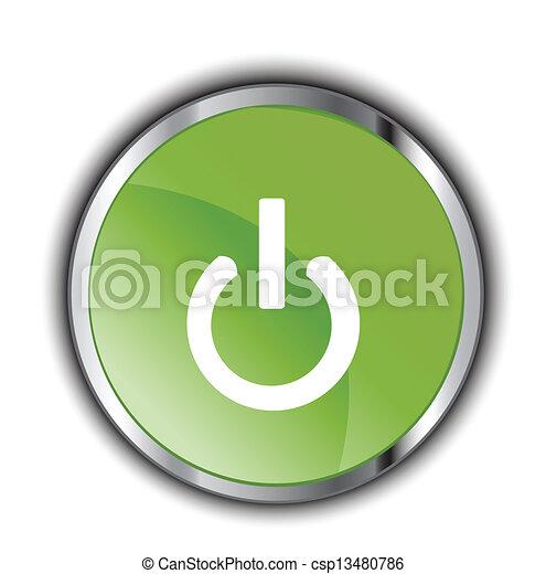 green power button - csp13480786