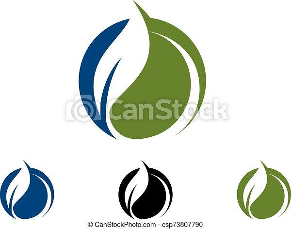 Green Power Energy Logo Design Element - csp73807790