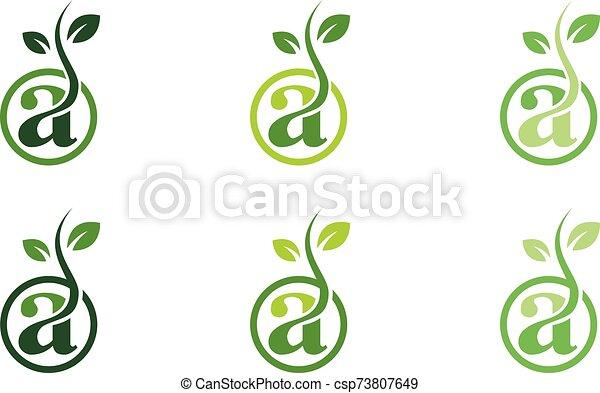 Green Power Energy Logo Design Element - csp73807649