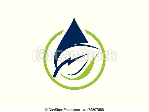 Green Power Energy Logo Design Element - csp73807686