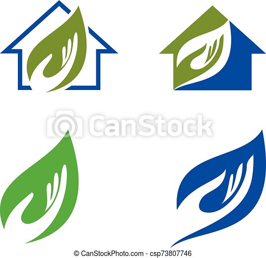 Green Power Energy Logo Design Element - csp73807746