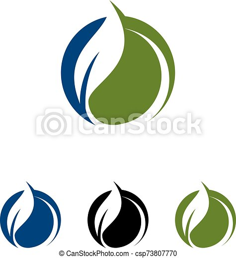 Green Power Energy Logo Design Element - csp73807770