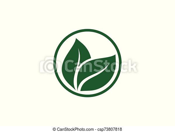 Green Power Energy Logo Design Element - csp73807818