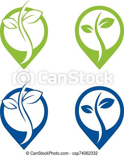 Green Power Energy Logo - csp74062332