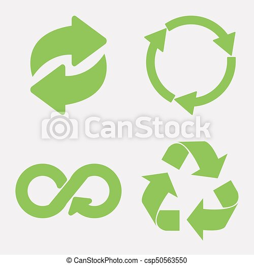 Green recycle icon - csp50563550