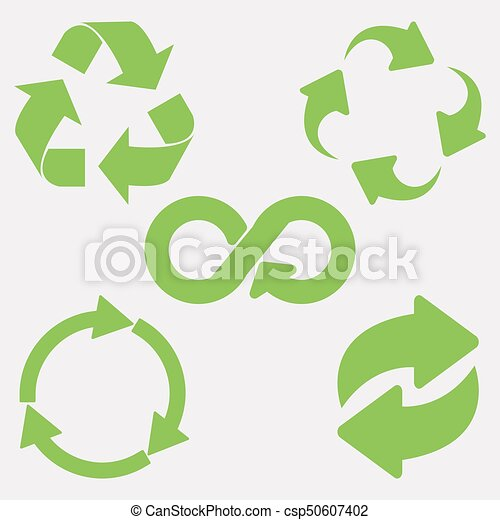 Green recycle icon - csp50607402