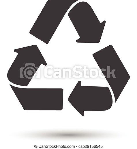 Green Recycle logo vector - csp29156545