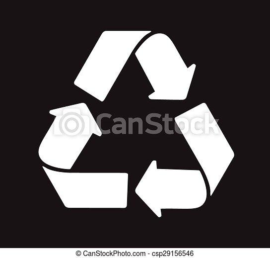 Green Recycle logo vector - csp29156546