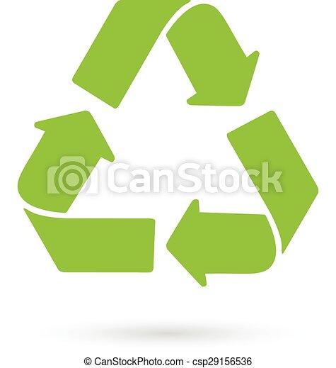 Green Recycle logo vector - csp29156536