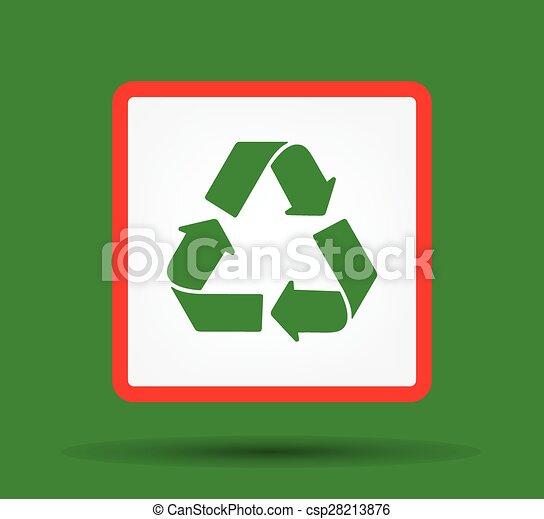Green Recycle logo vector - csp28213876