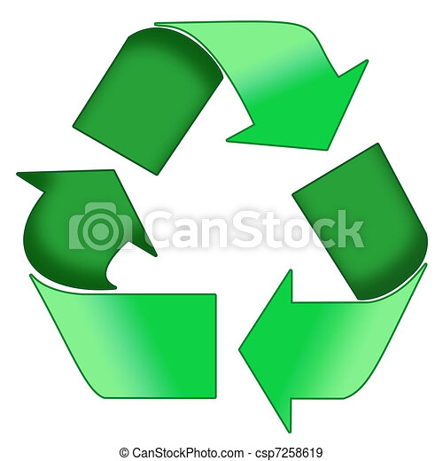 Green Recycle Symbol A Colourfull Green Photoshop Recycle Symbol