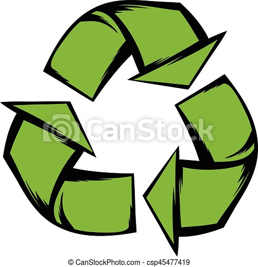green recycle symbol icon cartoon green recycle symbol vector rh canstockphoto com recycling vector art recycle victoria bc