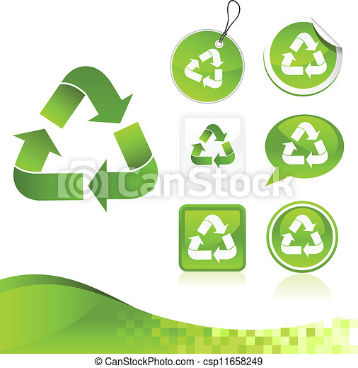 Green Recycling Design Kit - csp11658249