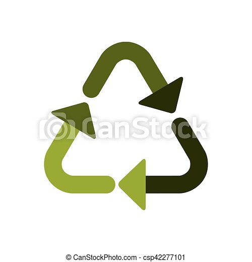 Green Recycling Symbol Shape With Arrows Vector Illustration Vector