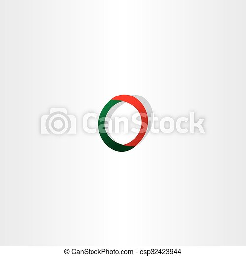 Green Red Logo Letter O Symbol Icon