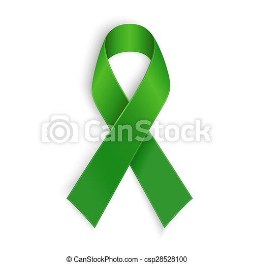 Green ribbon. Scoliosis, Mental health and other awareness symbol.  - csp28528100