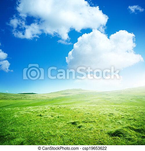Green Rolling Fields - csp19653622