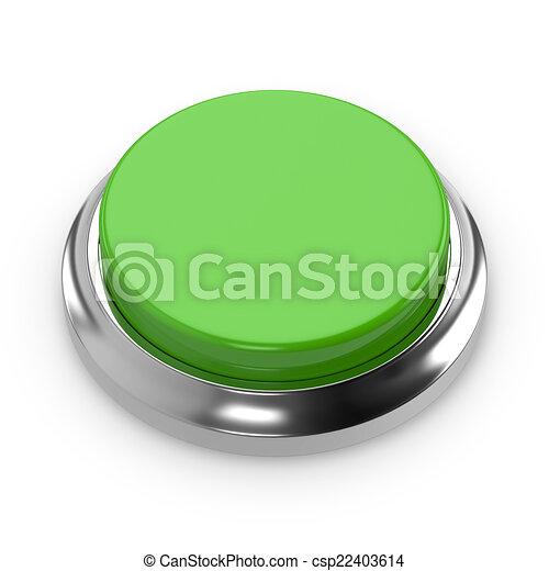 Green round blank button - csp22403614