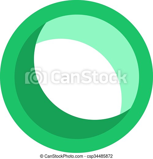 green round icon - csp34485872