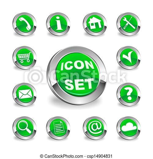 green round icon set - csp14904831