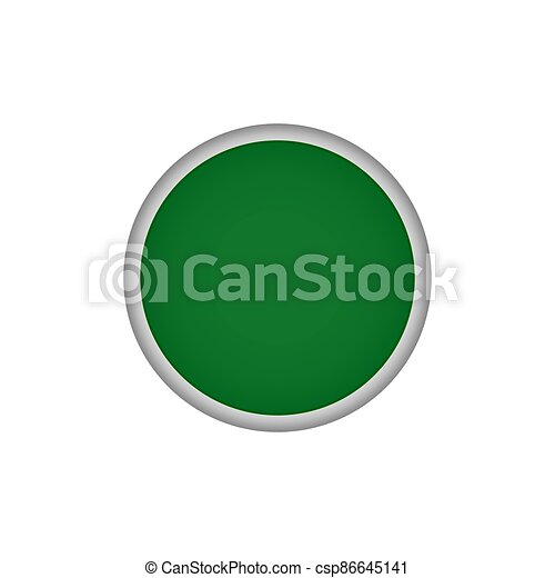 Green round vector button - csp86645141