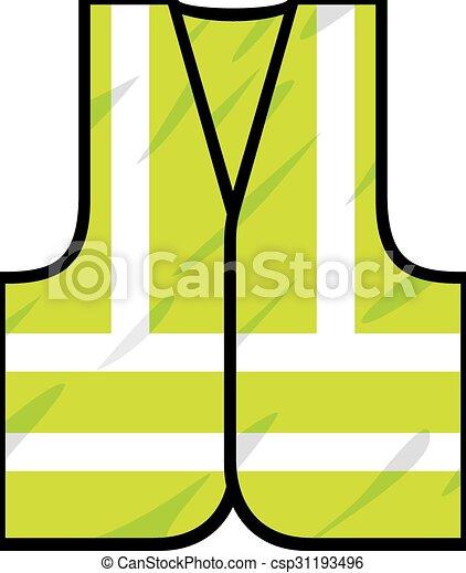 green safety vest - csp31193496