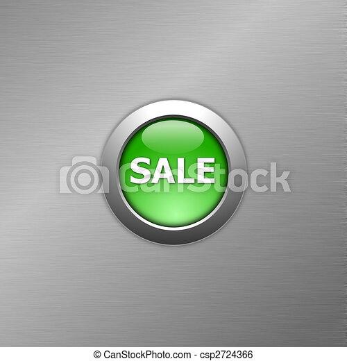 green sale button - csp2724366