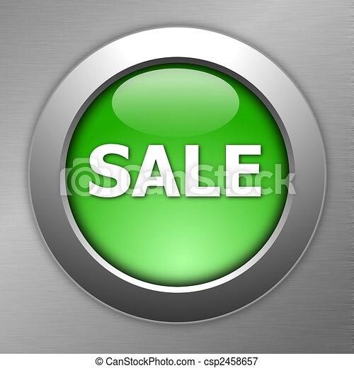green sale button - csp2458657