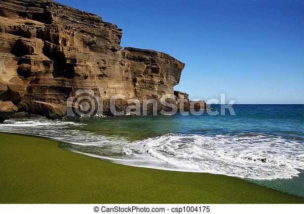 Green sand beach - csp1004175