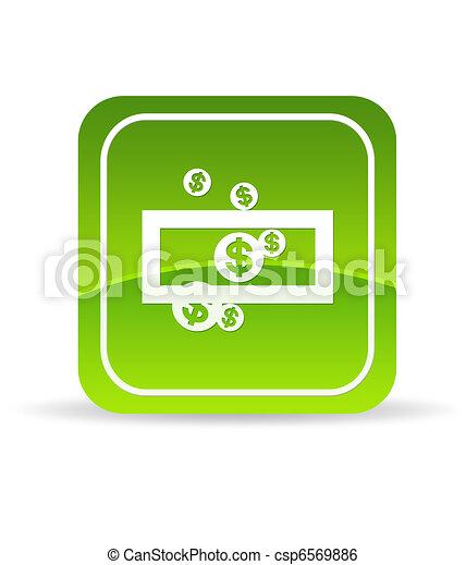Green Save Money Icon - csp6569886
