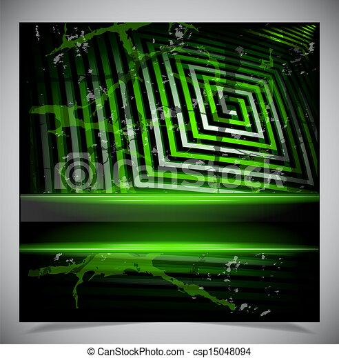 Green scratch grunge background - csp15048094