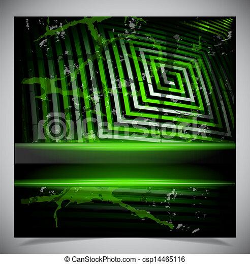 Green scratch grunge background - csp14465116