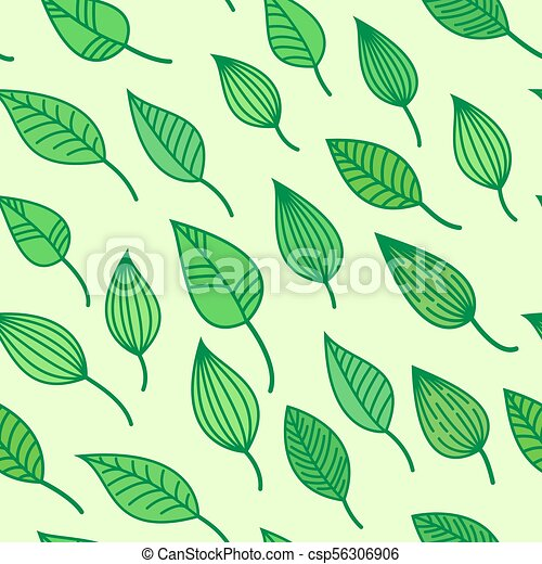 Green Seamless Pattens With Leaves Vector Summer And Spring Background Greenery Wallpaper