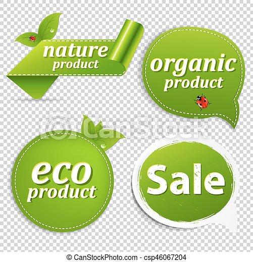 Green Set Eco Tags - csp46067204