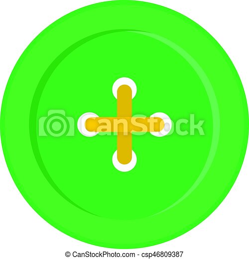 Green sewing button icon isolated - csp46809387