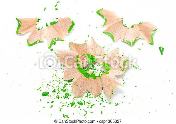 Green shavings - csp4365327
