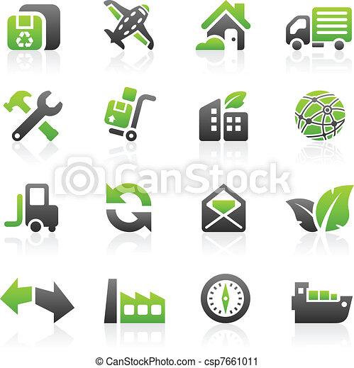 Green shipping icons - csp7661011