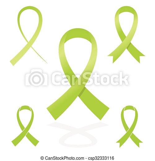 Green Sign Ribbon Cancer Symbol Vector Clip Art Search