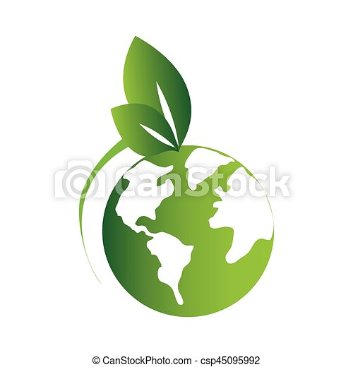 Green silhouette with world map and leaves vector eps vectors green silhouette with world map and leaves csp45095992 gumiabroncs Choice Image