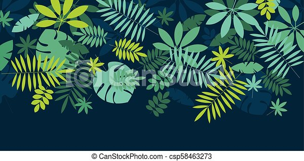 Green Simple Tropical Leaves Design Element For Header Card Invitation Poster Cover And Other Web And Print Design Canstock Find over 100+ of the best free tropical leaves images. https www canstockphoto com green simple tropical leaves design 58463273 html