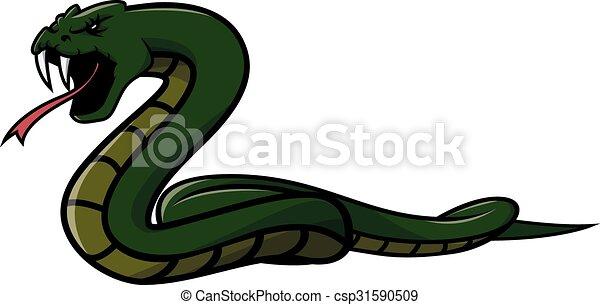 Green snake Illustration design - csp31590509