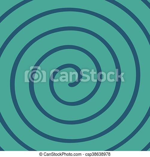 green spiral wallpaper - csp38638978