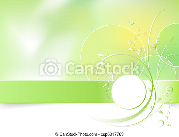 Green spring flower background - csp6017763