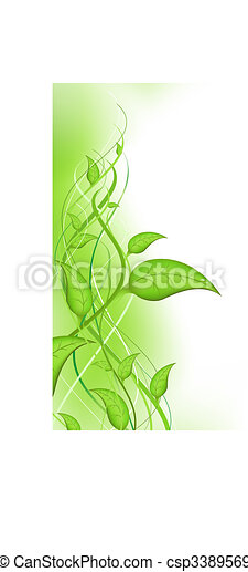 Green sprout with leaves - csp3389569